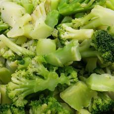 Brokkoli-Fenchel-Reis-Brei mit Pute