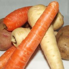 Karotten-Pastinaken-Kartoffelbrei mit Hirse