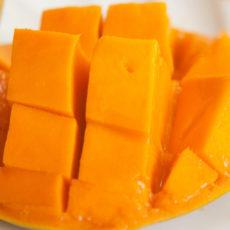 Griesbrei mit Mango