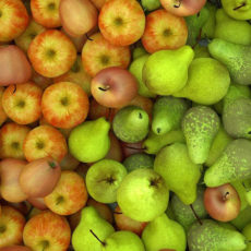Griesbrei mit Birne und Apfel