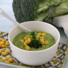 Babybrei mit Mais und Brokkoli