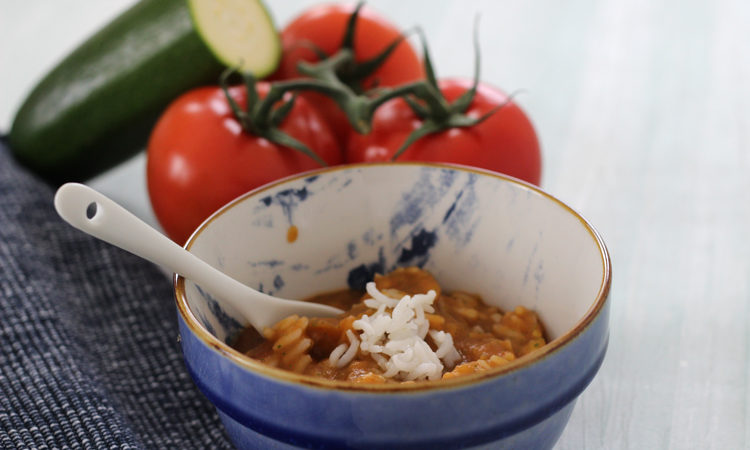Babybrei mit Tomate und Reis