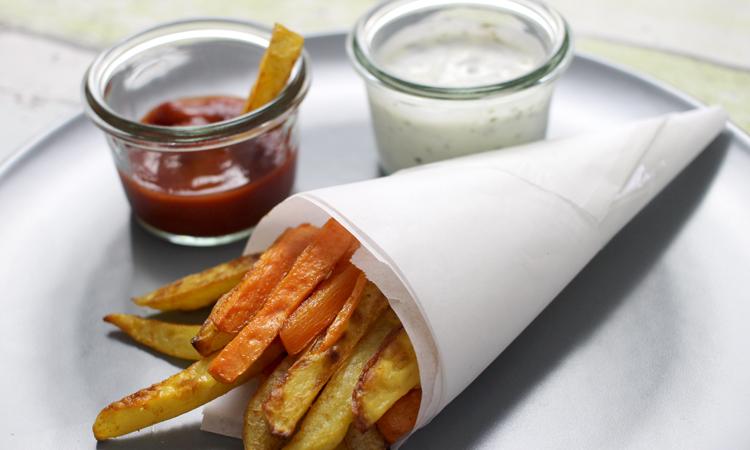 Gemüse Pommes für Kinder