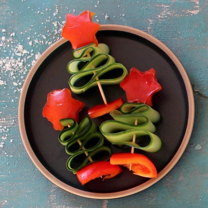 Tennenbaum aus Gemüse für Babys und Kleinkinder