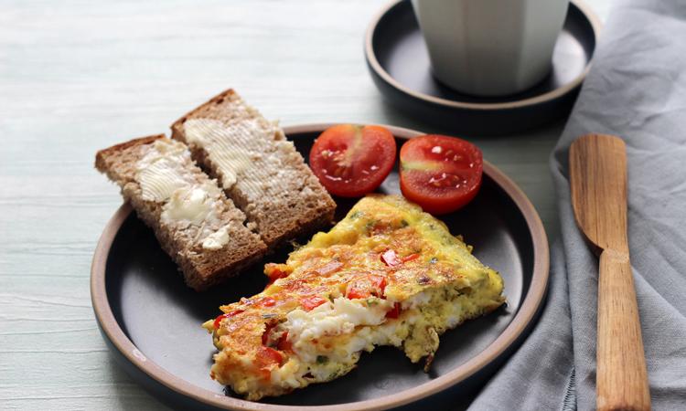 Omelette zum Abendbrot für Babys und Kleinkinder