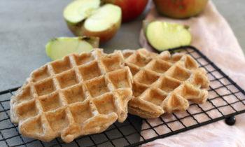 Apfel-Zimt-Waffeln für Babys und Kleinkinder vegan und zuckerfrei