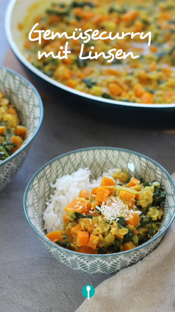 Vegetarische Gerichte für Kinder Gemüse-Curry