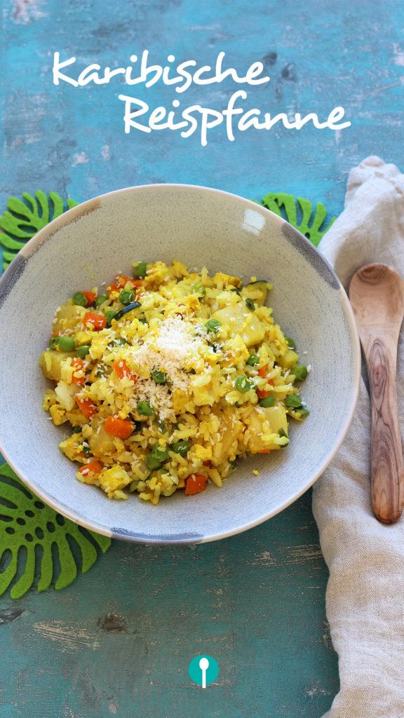 Vegetarische Gerichte für Kinder Reispfanne