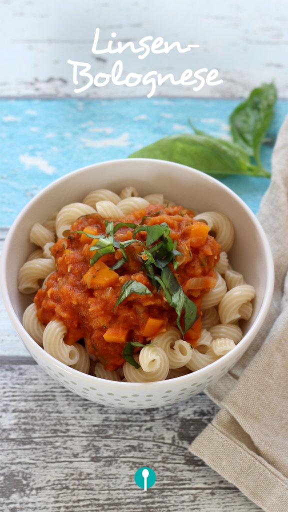 Vegetarische Gerichte für Kinder Linsenbolognese