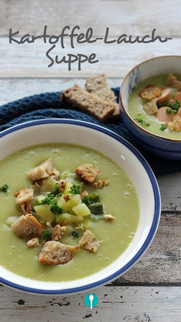 Kartoffel Lauch Suppe für Babys und Kinder